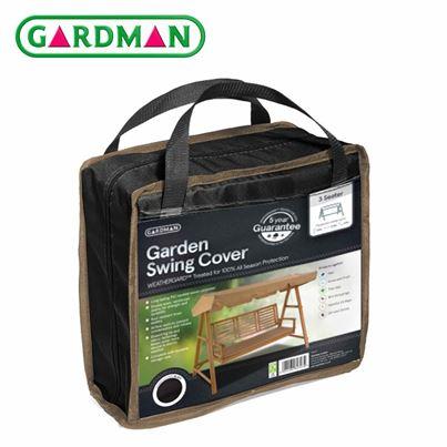 Gardman Gardman 3 Seater Garden Swing Cover - Black