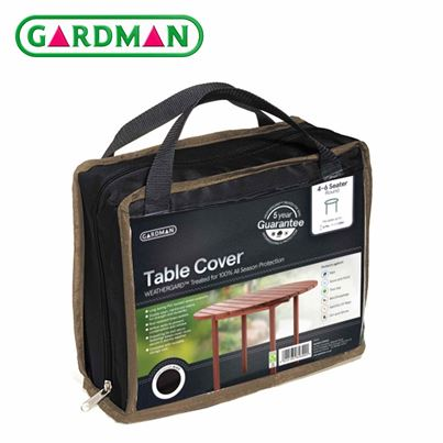 Gardman Gardman 4-6 Seater Round Table Cover - Black