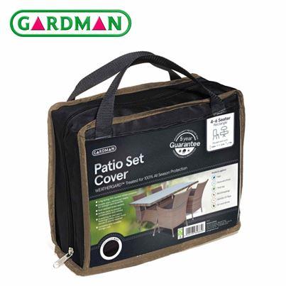 Gardman Gardman 4-6 Seater Rectangular Patio Set Cover - Black