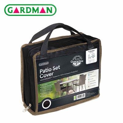 Gardman Gardman 4 Seater Round Patio Set Cover - Black