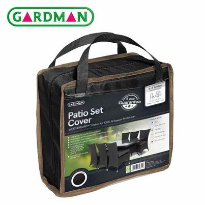 Gardman Gardman 6-8 Seater Rectangular Patio Set Cover - Black