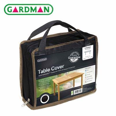 Gardman Gardman 6 Seater Rectangular Table Cover - Black