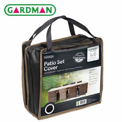 Gardman Gardman 8-10 Seater Rectangular Patio Set Cover - Black