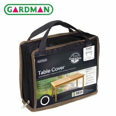 Gardman Gardman 8 Seater Rectangular Table Cover - Black