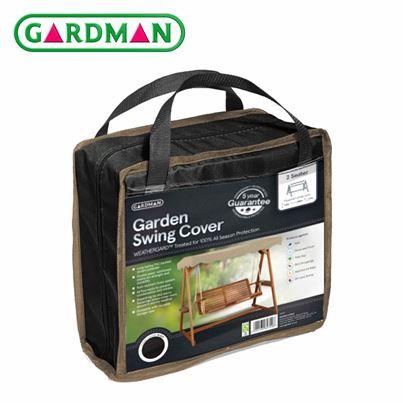 Gardman Gardman 2 Seater Garden Swing Cover - Black