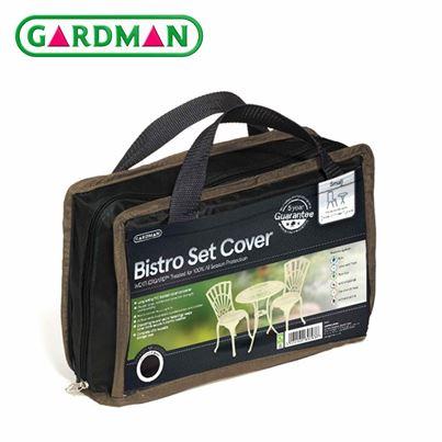Gardman Gardman Round Bistro Set Cover - Black