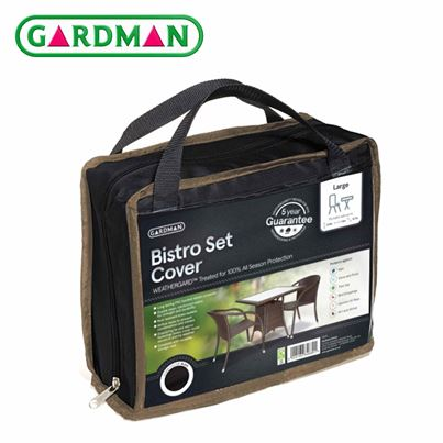 Gardman Gardman Square Bistro Set Cover - Black