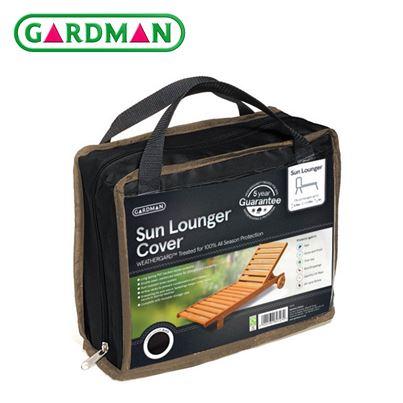 Gardman Gardman Sun Lounger Cover - Black
