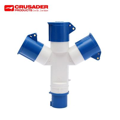 Crusader Caravan 3-Way Mains Hook-up Splitter