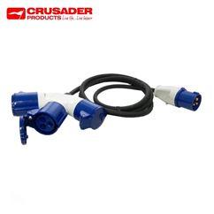 16 Amp Plug to 3 Way Y Piece