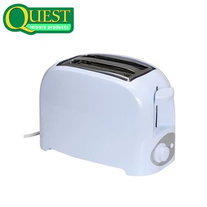 Quest Quest Low Wattage 2 Slice White Toaster