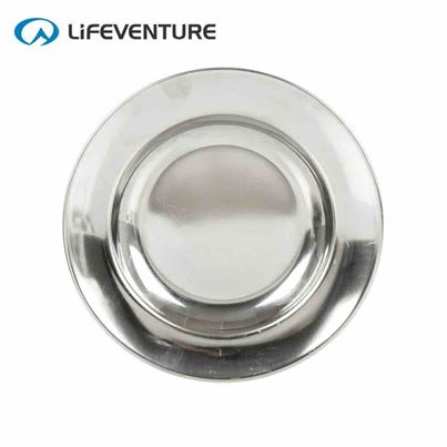 Lifeventure Lifeventure Stainless Steel Camping Plate