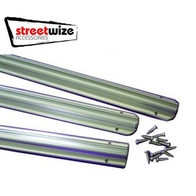Streetwize Awning Rail Channel Kit 3x 1.2m Strips