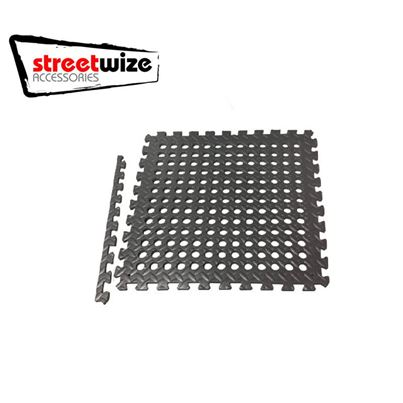 Streetwize Black EVA Floor Tile Pack of 4