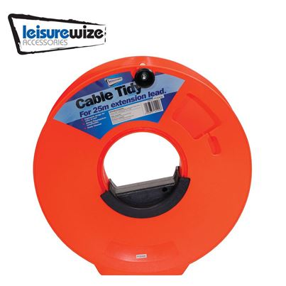 Leisurewize Cable Tidy Reel For 25m Hook Up Mains Lead
