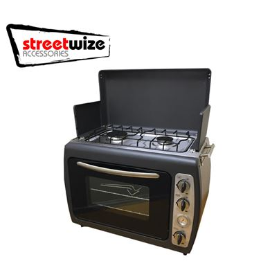 Streetwize Leisurewize Portable Kitchen - Twin Hob & Double Shelf Oven
