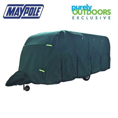 Maypole Maypole Breathable Ultimate 5-Ply Green Caravan Cover