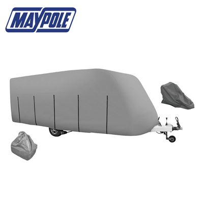 Maypole Maypole 4-Ply Grey Caravan Cover With Free Hitch Cover & Storage Bag