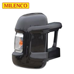 Milenco Motorhome Black Mirror Protectors - Long Arm