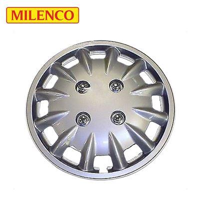 """Milenco Milenco 14"""" Silver Caravan Wheel Trims"""