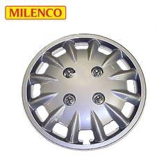 """Milenco 14"""" Silver Caravan Wheel Trims"""