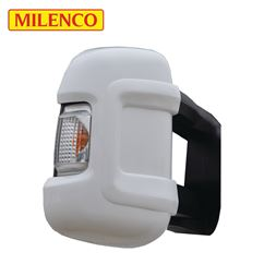 Milenco Motorhome White Mirror Protectors - Long Arm
