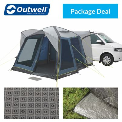 Outwell Outwell Milestone Pro Air Driveaway Awning Package Deal