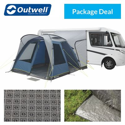 Outwell Outwell Milestone Pro Tall Driveaway Awning Package Deal