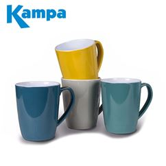Kampa Mixed Colours 4 Piece Heritage Mug Set