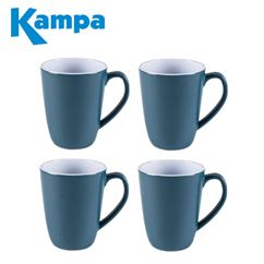 Kampa Dusk Blue 4 Piece Heritage Mug Set