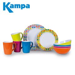 Kampa Flora Summer 16 Piece Melamine Set