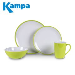 Kampa Citrus Green Summer 16 Piece Melamine Set