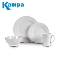 Kampa Blanco 16 Piece Melamine Set