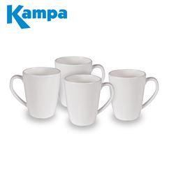 Kampa Classic White 4 Piece Mug Set
