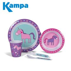 Kampa Unicorns Childrens Melamine Set