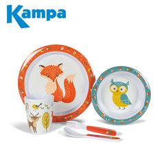Kampa Woodland Creatures Childrens Melamine Set