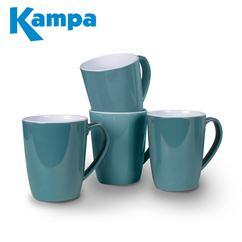 Kampa Lagoon Teal 4 Piece Heritage Mug Set