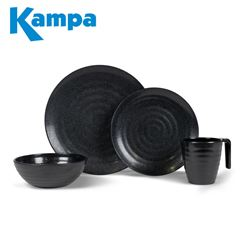 Kampa Ebony Cobble 16 Piece Melamine Set - New For 2020