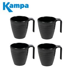 Kampa Ebony Cobble 4 Piece Mug Set
