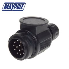 Maypole 13-Pin European Trailer Board Plug