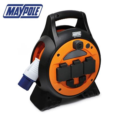 Maypole Maypole 15M Mobile Mains Roller Power Unit With LED Light