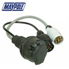 Maypole 7 Pin 12N&S Vehicle to 13 Pin Trailer Adaptor