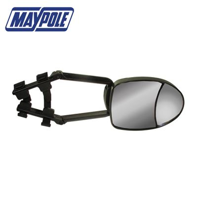 Maypole Maypole Universal Deluxe Dual Convex & Flat Glass Towing Mirror