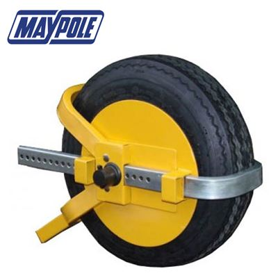 Maypole Maypole Trailer Wheel Clamp Wheel Sizes 13-17inch
