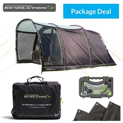 Outdoor Revolution Outdoor Revolution Movelite Cayman Cacos Driveaway Pole Awning Package Deal