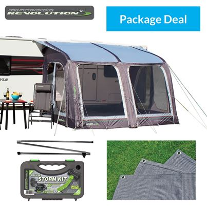 Outdoor Revolution Outdoor Revolution E-Sport Air 325 Awning Package Deal