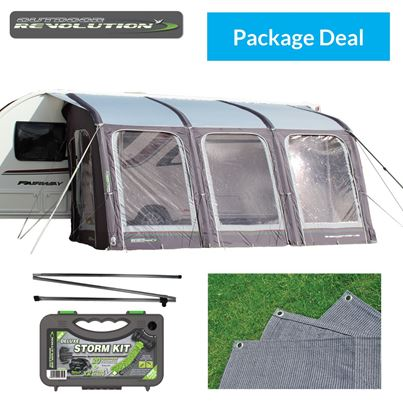 Outdoor Revolution Outdoor Revolution E-Sport Air 400 Awning Package Deal