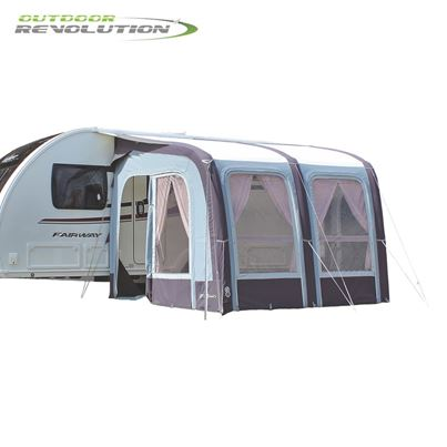Outdoor Revolution Outdoor Revolution Evora 260 Pro Climate Air Caravan Awning With FREE Carpet - 2019 Model