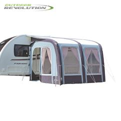 Outdoor Revolution Evora 260 Pro Climate Air Caravan Awning With FREE Carpet - 2019 Model