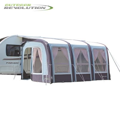 Outdoor Revolution Outdoor Revolution Evora 390 Pro Climate Air Caravan Awning With FREE Carpet - 2019 Model